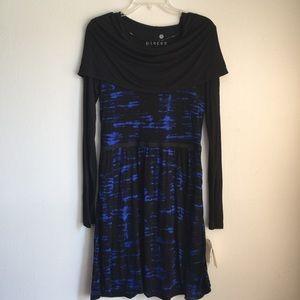 NWT Pieces Kensie Fit & Flare Cowl Neck Dress Sz M